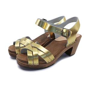 TILDE - schwedische Holz Clogs Sandale von me&myclogs - high mid heel - me&myClogs