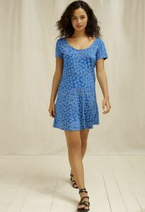 Kleid Aurelia Butterfly Dress Blue - People Tree