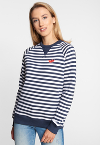 "Damen Sweat aus Bio Baumwolle & rec. Polyester ""SEA Crew"" navy - derbe"