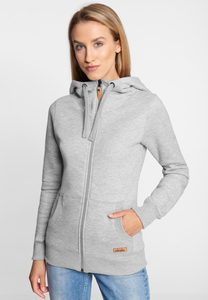 "Damen Sweatjacke aus Biobaumwolle & rec. Polyester ""Easy MULTISTRIPED"" - derbe"