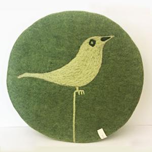 Skandinavische Sitzkissen aus Filz Modell Bird - home on earth