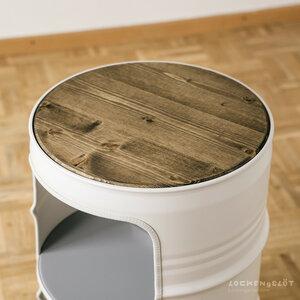 Kleine Fichte Dunkel Geölt - Tischplatte für Lockengelöt Nachttische - Lockengelöt