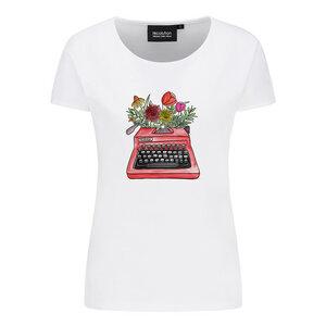 recolution Damen T-Shirt Typewriter reine Bio-Baumwolle - recolution