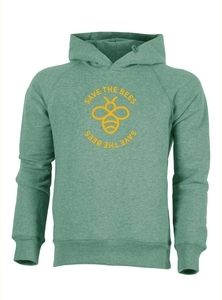 "Herren Hoodie aus Bio-Baumwolle ""Save the bees"" - University of Soul"