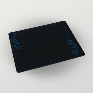 """""""Besser"""" Mousepad aus Recyclingleder rechteckförmig - HANDGEDRUCKT"""