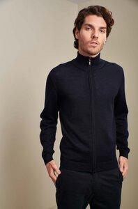 Edler Zip-Pullover aus 100% Alpakawolle aus Peru - KUNA