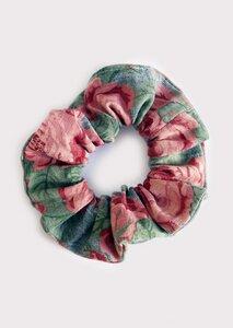 Scrunchie - Upcycling Haargummi mit Rosenprint - börd shört