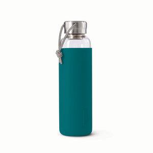 Trinkflasche aus Glas mit Schutzhülle - 600ml - Black + Blum