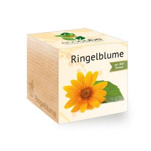 Ringelblume im Holzwürfel mit Bio-Samen - EcoCube