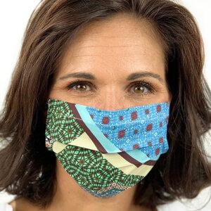 Stoffmaske, Gesichtsmaske, Mund-Nasen-Maske Biobaumwolle - AnRa Mode
