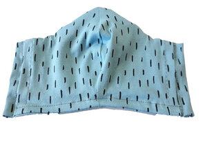 Mund- und- Nasen- Maske / Behelfsmaske | Kinder & Erwachsen | Tropfen auf eisblauem Baumwolljersey (kbA) bei PAT und PATTY - Pat und Patty