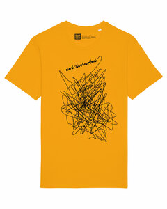 "Bio Faires Herren T-Shirt ""not disturbed"" yellow - ilovemixtapes"