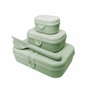 Lunchbox-Set PASCAL READY Organic - Lunchbox-Set + Besteck-Set - Koziol
