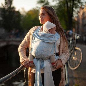 Hoppediz Babygtrage Hop-Tye Buckle Amsterdam100 % Bio Baumwolle - Hoppediz®