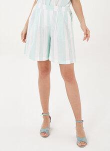 Lockere Shorts aus Leinen-Mix mit Streifen - ORGANICATION