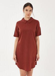 Kleid aus Leinen-Mix mit Bubikragen - ORGANICATION