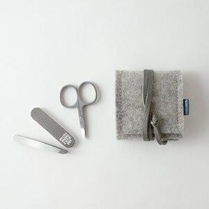 mini-maniküre-set 'ella' aus Filz hellgrau - matilda k. manufaktur