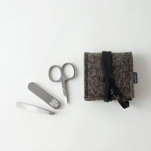 mini-maniküre-set 'ella' aus Filz braun - matilda k. manufaktur