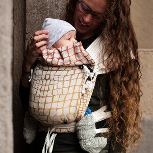 Hoppediz Babygtrage Hop-Tye Buckle Darwin 100 % Bio Baumwolle - Hoppediz®