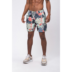 recolution Herren Badeshorts Leaves recyceltes Polyester - recolution