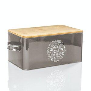 Brotbox mit Henkel - Gistad - 33x21x16,5cm mit Griffen | Brotdose Brotbehälter Brotkasten - Bambuswald