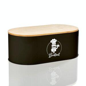 Ovale Brotbox / Brotkasten - Rök - 33x18x12cm in weiss | Brotbehälter Brotdose - Bambuswald