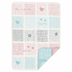 Babydecke Kuscheln 75*100 cm reine Bio-Baumwolle - Richter Textilien
