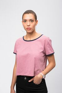 T-Shirt Boxy rose  - recolution