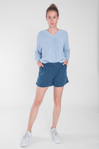 "Feine Shorts mit Bundfalten aus 70% Tencel & 30% Polyester ""SHORTY"" - STORY OF MINE"