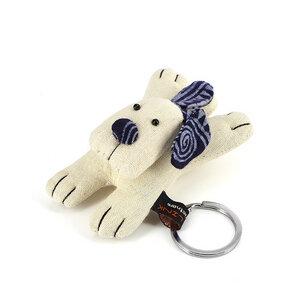 Schlüsselanhänger Hund weiß - Mitienda Shop