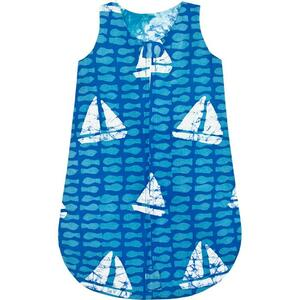 Baby Schlafsack - Sahara Gelb & Sailing Blau - Bio Baumwolle - Global Mamas