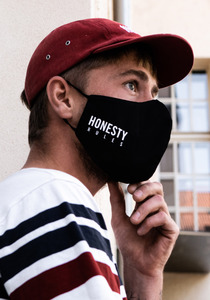 3 for 2 Pack Honesty Mask Behelfs-Mund-Nasen-Maske aus 100% Baumwolle (aus biologischem Anbau) - Honesty Rules