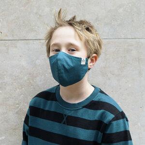 Größen Mix Pack  1xS  1xM 1xL   3 für den Preis von 2 -- Kinder Behelfs-Mund-Nasen-Maske aus 100% Baumwolle (aus biologischem Anbau) - Band of Rascals
