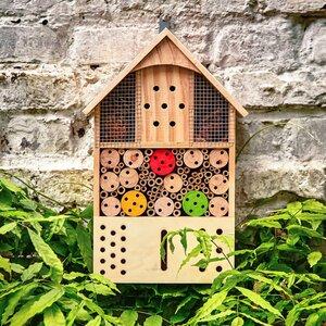 bambuswald© Insektenhotel / Insektenhaus für Garten & Balkon ca. 43x24cm - Bambuswald