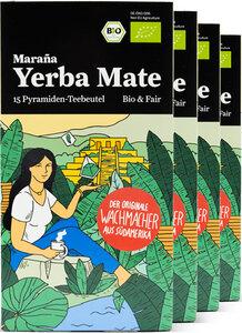 Maraña® Bio Yerba Mate Teebeutel Grün · 4x15 Pyramiden Mate Tee Beutel - Maraña