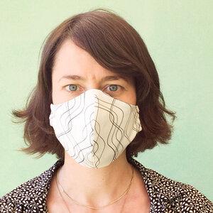 Wendbare Mund- und Nasen-Maske aus Bio-Baumwolle  - Biostoffe Berlin by Julie Cocon