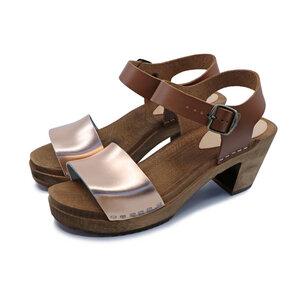 LEAH - schwedische Holz Clogs Sandale von me&myclogs - high mid heel - me&myClogs
