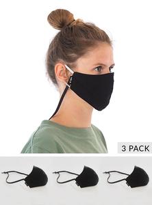 Behelfs-Mund-Nasen-Maske aus Bio-Baumwolle, schadstofffrei, Unisex - Fairtrade & GOTS zertifiziert 3er Pack - MELAWEAR