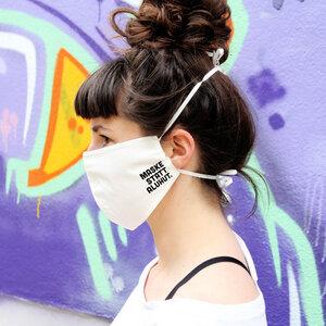 """Gesichtsmaske """"Maske statt Aluhut"""" aus Bio-Baumwolle - HYDROPHIL"""