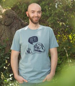 Hey Oskar Otter - Fair Wear Männer T-Shirt - Blau - päfjes