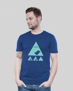 Shirt Men Majorelle Achtung Birdy! mint - SILBERFISCHER