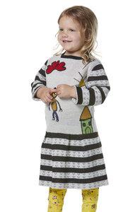 Kleid gestreift aus Baumwolle mit Alpaka - AMOR - Apu Kuntur