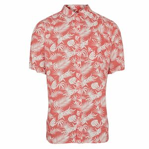 Hemd - Linen short sleeve shirt with all over print - KnowledgeCotton Apparel