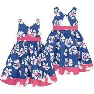 Bio Twirl Kleid - Tropics - Blau - Global Mamas