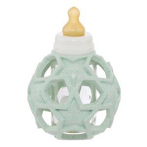 HEVEA BABY BOTTLE - BABYFLÄSCHCHEN AUS GLAS +STAR BALL upcycled - 3 Farben - Hevea