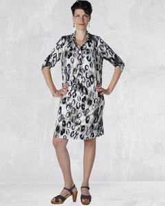 Hemdkleid Jersey mit Leopardenmuster - LaZoy
