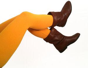 Bio Leggings uni safrangelb - Frija Omina