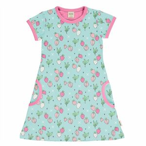 Meyadey T-Shirt Kleid Kurzarm strawberry Erdbeere - Meyadey