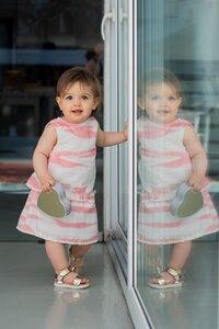 Rock Scintilla + Hemd Felicity Peach aus Bio-Musselin-Baumwolle - Peter Jo Kids