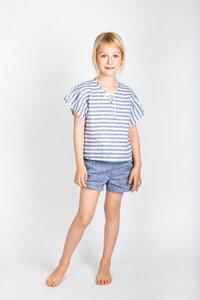 Hemd Breeze gestreift + Shorts Caprice aus Leinen - Peter Jo Kids